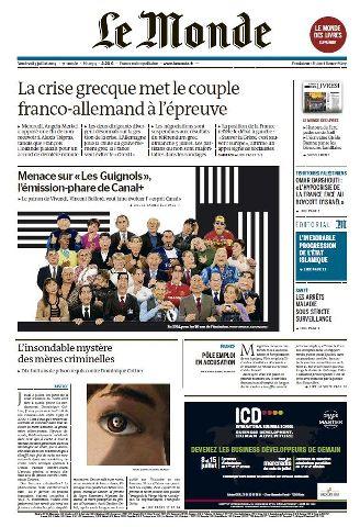 Le Monde du Vendredi 3 Juillet 2015