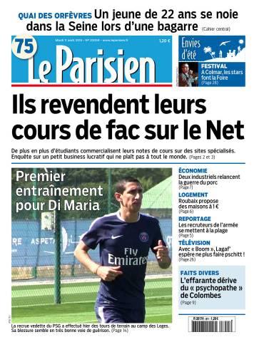 Le Parisien + Journal de Paris du Mardi 11 Août 2015