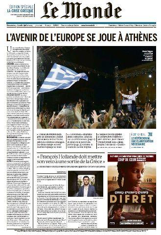 Le Monde du Dimanche 5 et Lundi 6 Juillet 2015