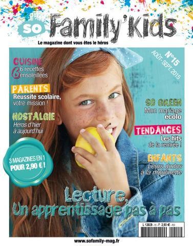 So Family' Kids - Août-Septembre 2015