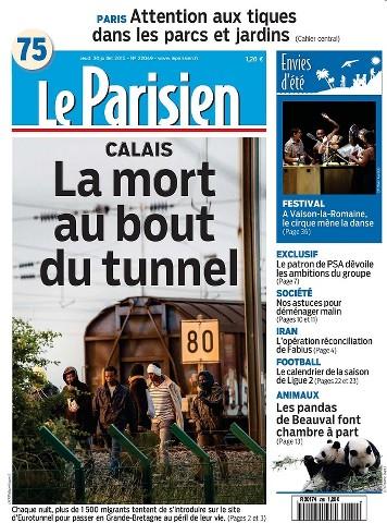 Le Parisien du Jeudi 30 Juillet 2015
