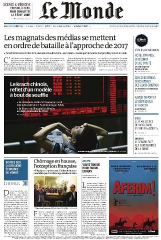 Le Monde du Mercredi 29 Juillet 2015
