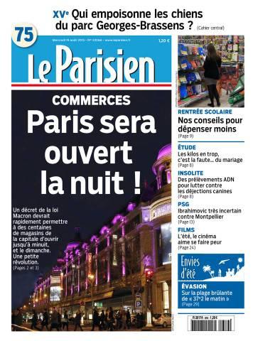 Le Parisien + Journal de Paris du Mercredi 19 Août 2015