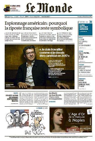 Le Monde du Jeudi 25 Juin 2015