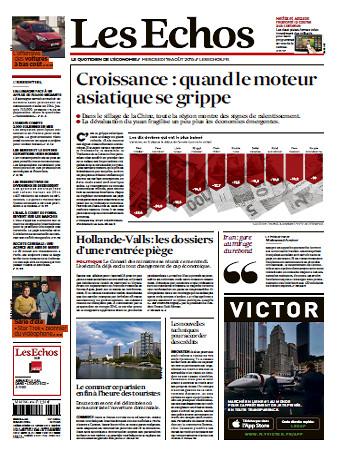 Les Echos Du Mercredi 19 Août 2015