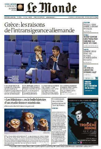 Le Monde du Mercredi 8 Juillet 2015