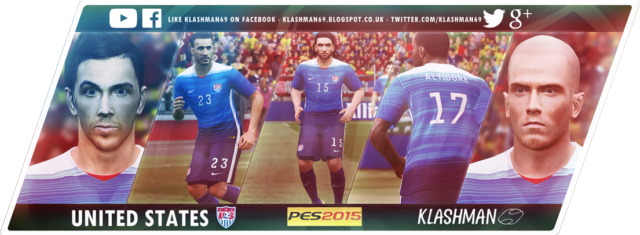 Download USA Away Kit Gold Cup 2015 For PES 2015 by klashman69