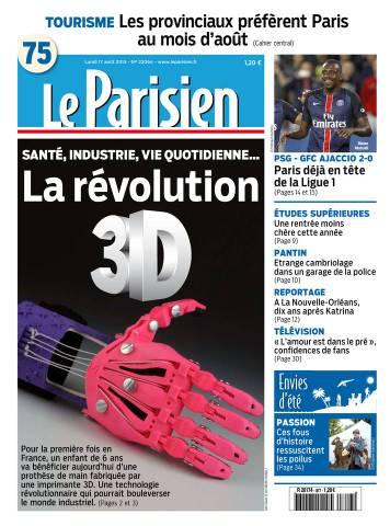 Le Parisien + Journal de Paris du Lundi 17 Aotû 2015
