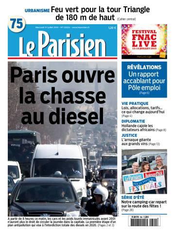 Le Parisien + Journal de Paris du Mercredi 1 Juillet 2015