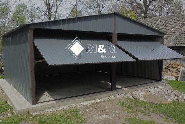 mehrzweck garage blechgarage fertiggarage 5mx6 m mit satteldach und schwingtoren ebay. Black Bedroom Furniture Sets. Home Design Ideas