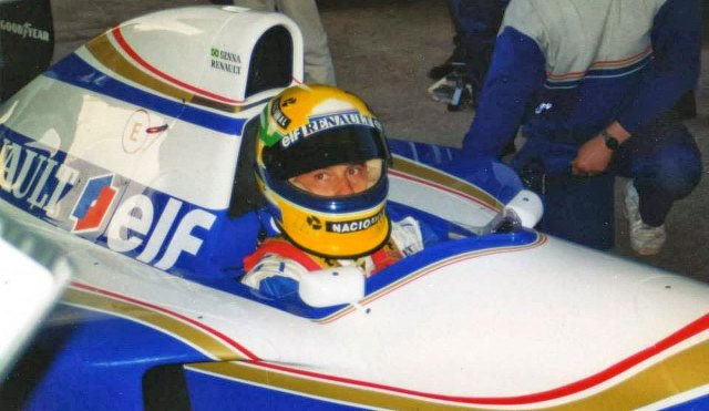Ayrton Senna's Bell Vortex Type SS Penske 93/94