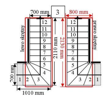treppen modular cora modell mix 03 l 90 12 elemente. Black Bedroom Furniture Sets. Home Design Ideas