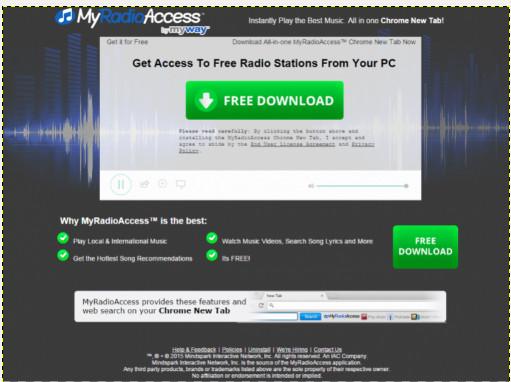 Pasek narzędzi MyRadioAccess