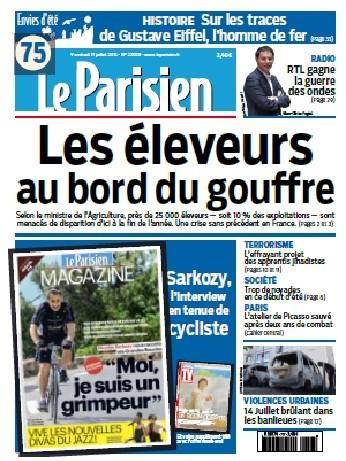 Le Parisien + Journal De Paris Du Vendredi 17Juillet 2015