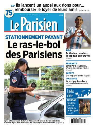 Le Parisien + Journal de Paris du Mercredi 5 Août 2015