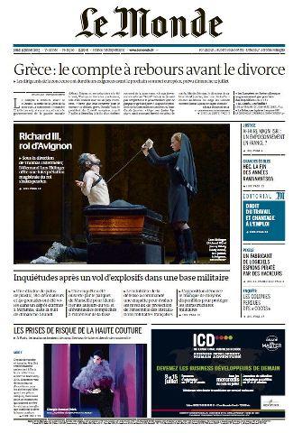 Le Monde du Jeudi 9 Juillet 2015