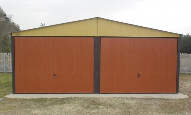 mehrzweck 5mx6 m mit satteldach und schwingtoren garage blechgarage fertiggarage ebay. Black Bedroom Furniture Sets. Home Design Ideas