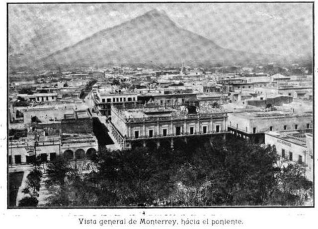 Vista de Monterrey hacia el oeste (1902)