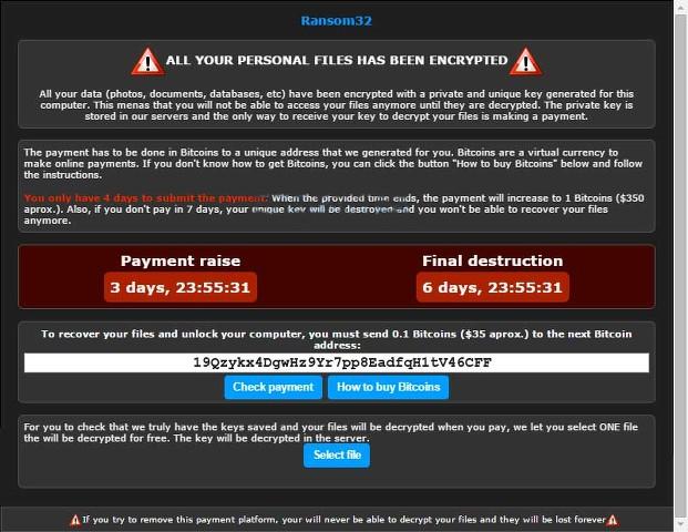Ransom32 Ransomware