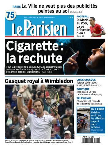 Le Parisien + Journal de Paris du jeudi 9 juillet 2015