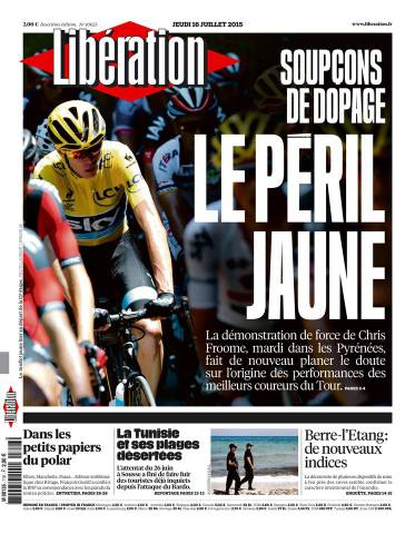 Liberation Du Jeudi 16 Juillet 2015
