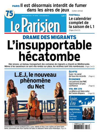 Le Parisien du jeudi 06 août 2015