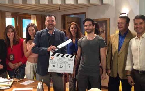 Foto del Claquetazo inicial de la telenovela A que no me dejes