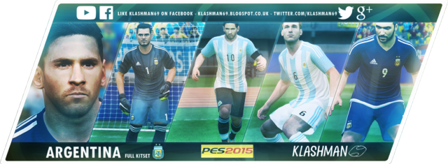 Download Argentina 2015 Kit Pack Copa America 2015 For PES 2015