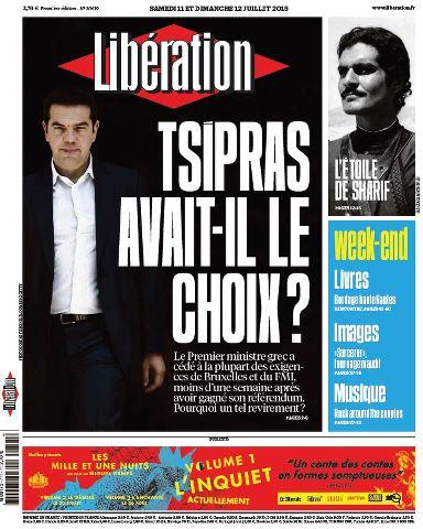 Libération du Samedi 11 et Dimanche 12 Juillet 2015