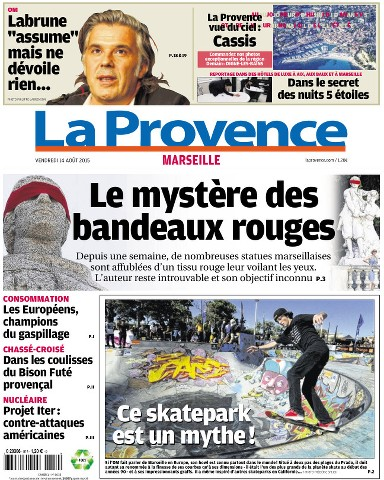 La Provence Du Vendredi 14 Aout 2015