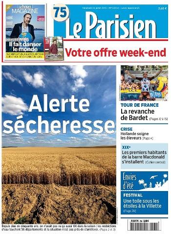 Le Parisien du Vendredi 24 Juillet 2015