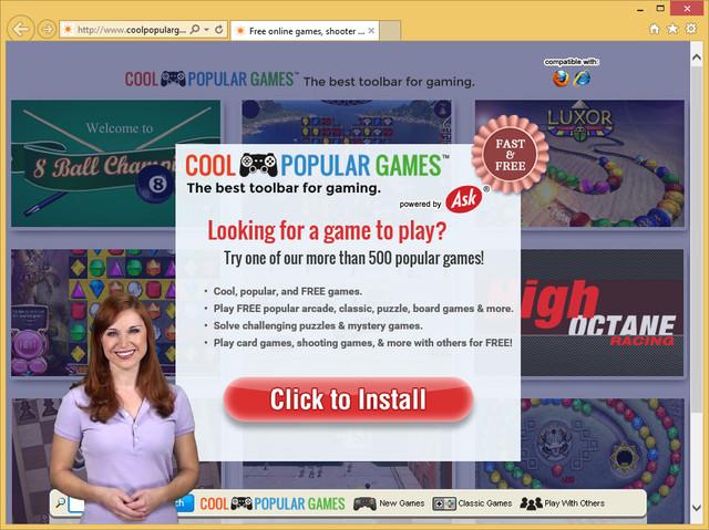Pasek narzędzi CoolPopularGames