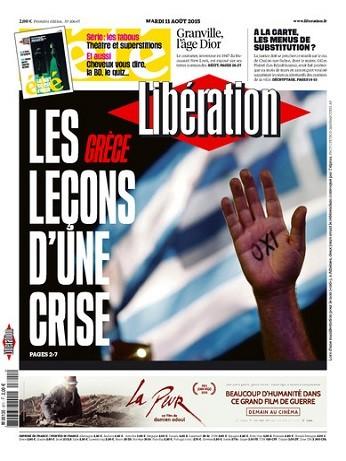 Liberation Du Mardi 11 Août 2015