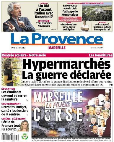 La Provence Marseille du Mardi 18 Août 2015