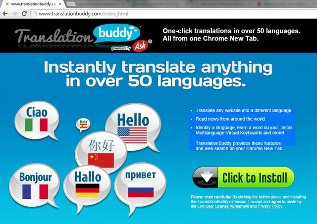 Translation Buddy Toolbar