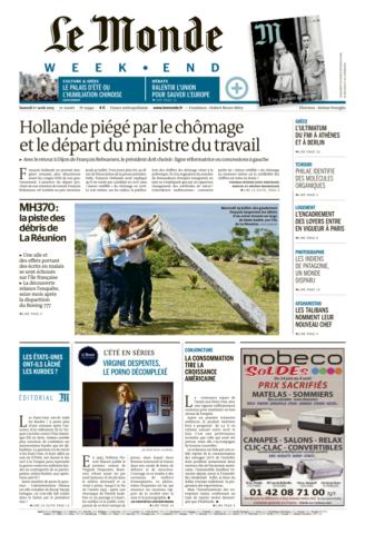 Le Monde du Samedi 1 aout 2015