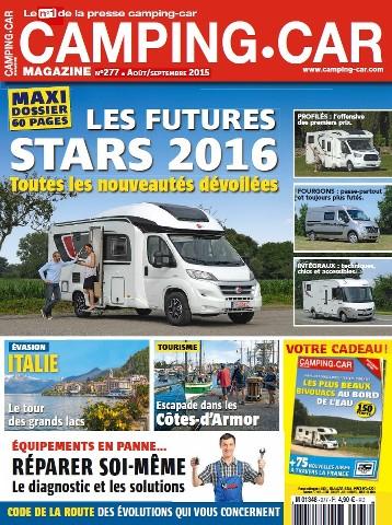 Camping-Car magazine 277 - Août-Septembre 2015