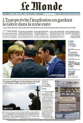 Le Monde du Mardi 14 Juillet 2015