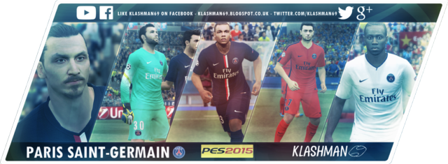 Download Paris Saint-Germain PES 2015 Kit Pack by Klashman