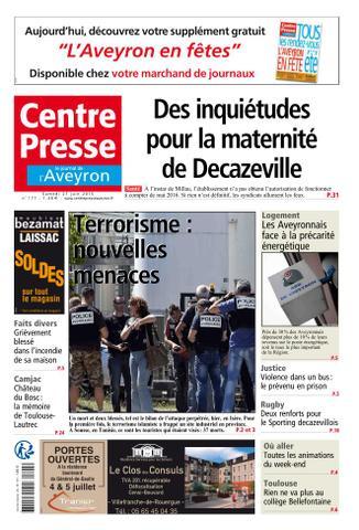 Centre Presse L'Aveyron - 27 Juin 2015