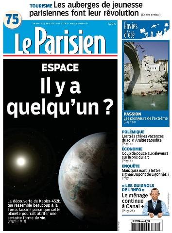 Le Parisien du Samedi 25 Juillet 2015