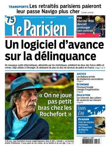 Le Parisien + Journal de Paris du Mercredi 12 Août 2015