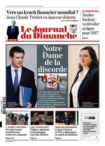 Le Journal du dimanche 3605 du 14 Fevrier 2016