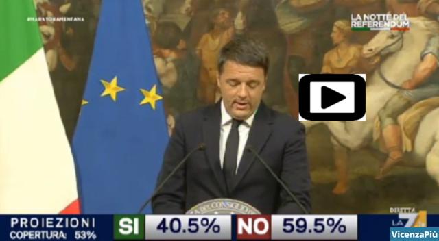 Le dimissioni di Renzi in video su La7