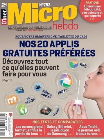 Micro Hebdo 763 - Nos 20 applis gratuites prèfèrèes