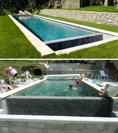 Avis sur une piscine ma onn e d bordement 10 for Bassin a debordement