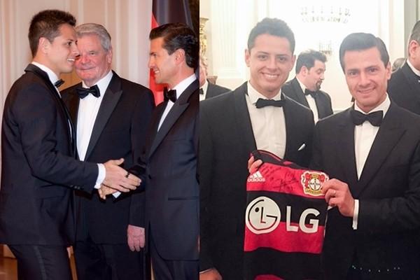 EPN convivió con Chicharito en visita de Estado a Alemania
