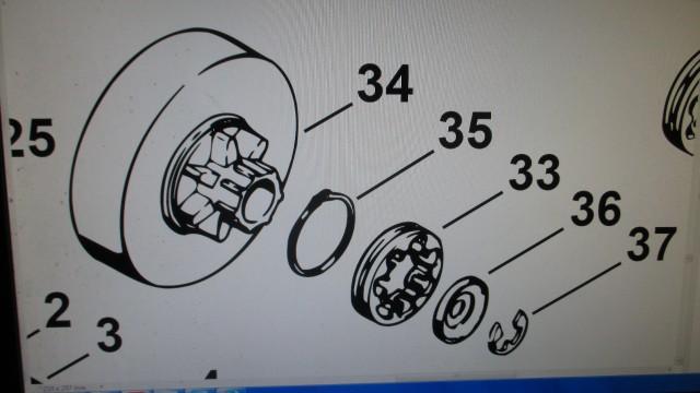 Ölpumpenantrieb  Zahnräder passend zu Ölpumpe Stihl 028 028AV AV Super
