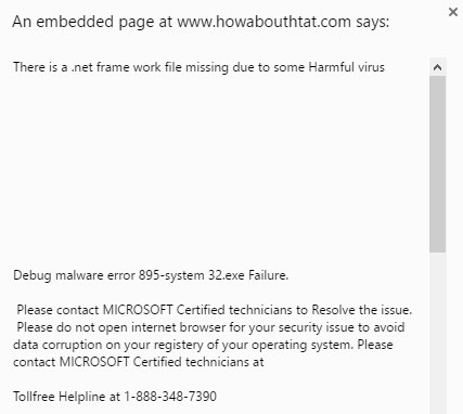 Remove howabouthtat.com pop up