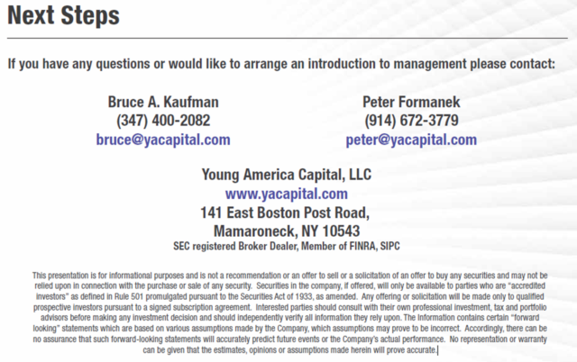 Contact Young America Capital at 347.400.2082